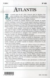Revue Atlantis N.428 ; D'Aladin A L'Abbaye Du Bec Hellouin ; Les Runes - 4ème de couverture - Format classique