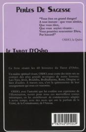 Perles de sagesse ; le tarot d'Osho - 4ème de couverture - Format classique