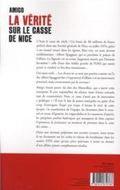 La vérité sur le casse de Nice - 4ème de couverture - Format classique