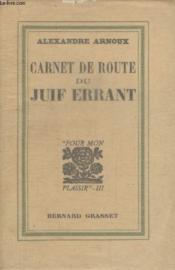 Carnet De Route Du Juif Errant. - Couverture - Format classique