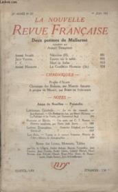 Collection La Nouvelle Revue Francaise N° 237. Deux Poemes De Mallarme. Epures Sur Le Sable Par Jean Vaudal/ Mort De Judas Pas P.C. - Couverture - Format classique