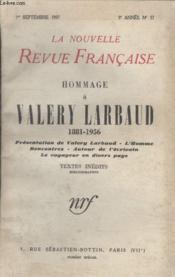 Collection La Nouvelle Nouvelle Revue Francaise N°57. Hommage A Valery Larbaud 1881 1956. - Couverture - Format classique