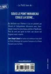Les plus beaux poèmes d'Apollinaire - 4ème de couverture - Format classique