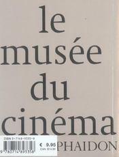 Le Musee Du Cinema Mini Edition - 4ème de couverture - Format classique