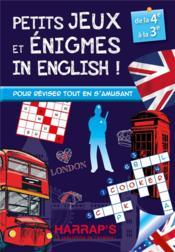 Petits jeux et petites énigmes 100 % british ; 4ème/3ème - Couverture - Format classique