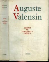 Auguste Valensin - Textes Et Documents Inedits - Couverture - Format classique