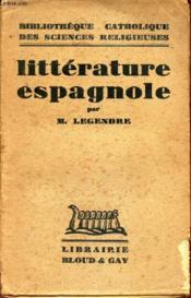 Litterature Espagnole. - Couverture - Format classique