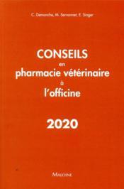 Conseils en pharmacie veterinaire a l'officine - Couverture - Format classique