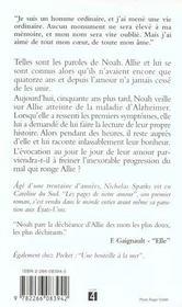 Les Pages De Notre Amour - 4ème de couverture - Format classique