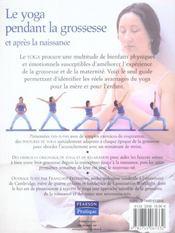 Le yoga pendant la grossesse et apres la naissance - 4ème de couverture - Format classique