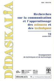 Revue Didaskalia ; Enseigner Les Sciences Dans L'Enseignement Superieur T.19 - Couverture - Format classique