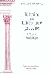 Histoire De La Litterature Grecque A L'Epoque Hellenist - Intérieur - Format classique