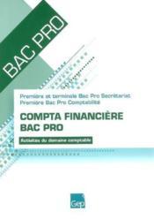 Compta Financiere Bac Pro Pochette - Couverture - Format classique