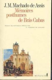 Memoires Posthumes De Bras Cubas - Couverture - Format classique