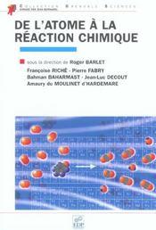 De l'atome a la reaction chimique - Intérieur - Format classique