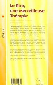 Rire, une merveilleuse therapie (le) (poche) - 4ème de couverture - Format classique