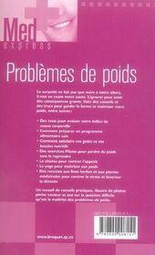Problèmes de poids - 4ème de couverture - Format classique