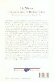 L'Arbre Et La Foret ; Destins Croises - 4ème de couverture - Format classique