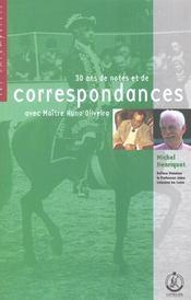 Correspondance oliveira - Intérieur - Format classique