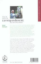 Correspondance oliveira - 4ème de couverture - Format classique