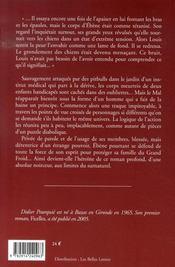 Le jardin d'ébène - 4ème de couverture - Format classique
