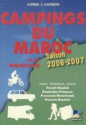 Campings du Maroc et de Mauritanie (édition 2006/2007) - Couverture - Format classique