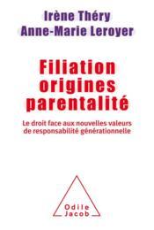 Filiation origines parentalité - Couverture - Format classique