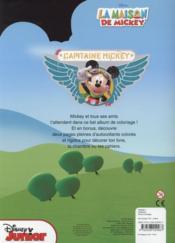 VIVE LE COLORIAGE ; la maison de Mickey - 4ème de couverture - Format classique