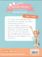 Sarah danse T.3 ; bienvenue à l'opéra ! - 4ème de couverture - Format classique