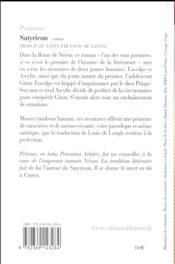 Satyricon - 4ème de couverture - Format classique