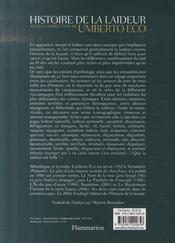 Histoire de la laideur - 4ème de couverture - Format classique