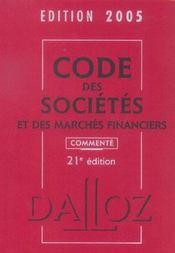 Code Des Societes Et Des Marches Financiers - Intérieur - Format classique