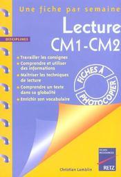 Lecture ; CM1/CM2 ; fiches à photocopier - Intérieur - Format classique