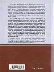 Dubliners James Joyce Logique De L'Impossible Marque-Page Litterature Anglo-Saxonne - 4ème de couverture - Format classique