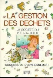 Gestion Des Dechets N.E. - Couverture - Format classique