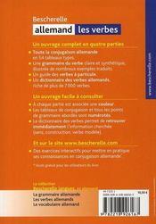 Bescherelle allemand ; les verbes - 4ème de couverture - Format classique