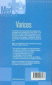 Varices - 4ème de couverture - Format classique