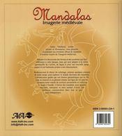 Mandalas ; imagerie médiévale - 4ème de couverture - Format classique
