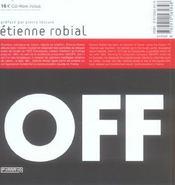 Etienne Robial - 4ème de couverture - Format classique