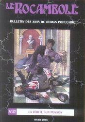 Revue Rocambole N.37 ; La Vérité Sur Ponson - Intérieur - Format classique