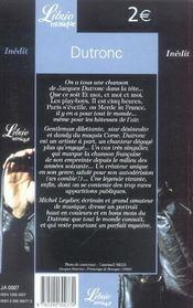 Dutronc - 4ème de couverture - Format classique