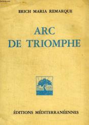 Arc De Triomphe - Couverture - Format classique