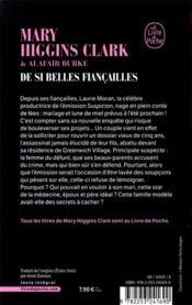 De si belles fiancailles - 4ème de couverture - Format classique
