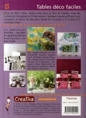 Creativa T.15 ; Tables Déco Faciles - Couverture - Format classique