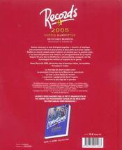 Records ; 2500 Records - 4ème de couverture - Format classique
