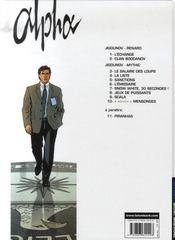 Alpha t.10 ; mensonges - 4ème de couverture - Format classique