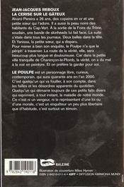 La Cerise Sur Le Gateux - 4ème de couverture - Format classique