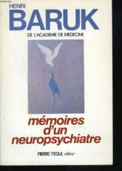Memoires d'un neuropsychiatre - Couverture - Format classique