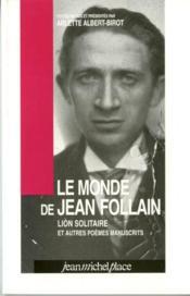 Le monde de Jean Follain - Couverture - Format classique