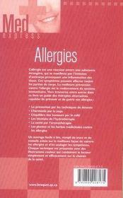 Allergies - 4ème de couverture - Format classique
